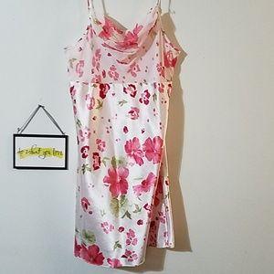 Elegant floral nightgown